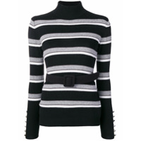 Liu Jo Striped Sweater - Preto