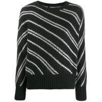 Ermanno Scervino Glass-Embellished Knit Sweater - Preto