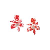 Lele Sadoughi Par De Brincos Floral - Vermelho