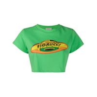 Fiorucci Camiseta Flying Saucer Cropped - Verde