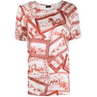 Joseph Camiseta Com Estampa De Cartão Postal - Branco