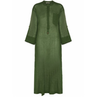 Three Graces Vestido Kaftan August Transparência - Verde