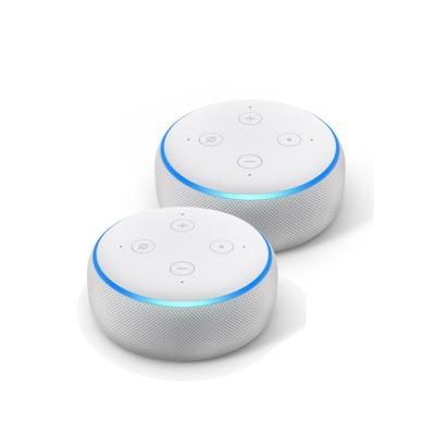 2er Pack Amazon Echo Dot 3. Generation Smart-Speaker mit Alexa, Sandstein Stoff,