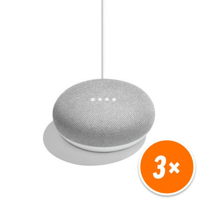 google-home-mini-sprachgesteuerter-lautsprecher-mit-google-assistant-rock-candy-chalk-3er-pack-, 132.47 EUR @ notebooksbilliger-de-de