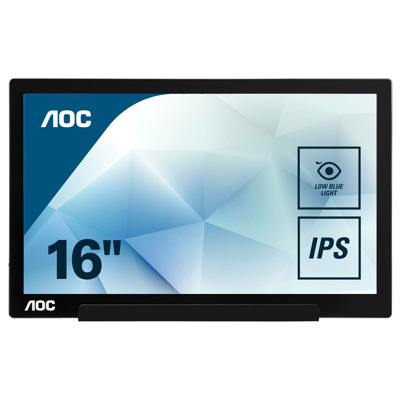 AOC I1601FWUX 40 cm (15.6 Zoll), tragbarer LED Monitor mit IPS Panel, Full HD, USB Type C