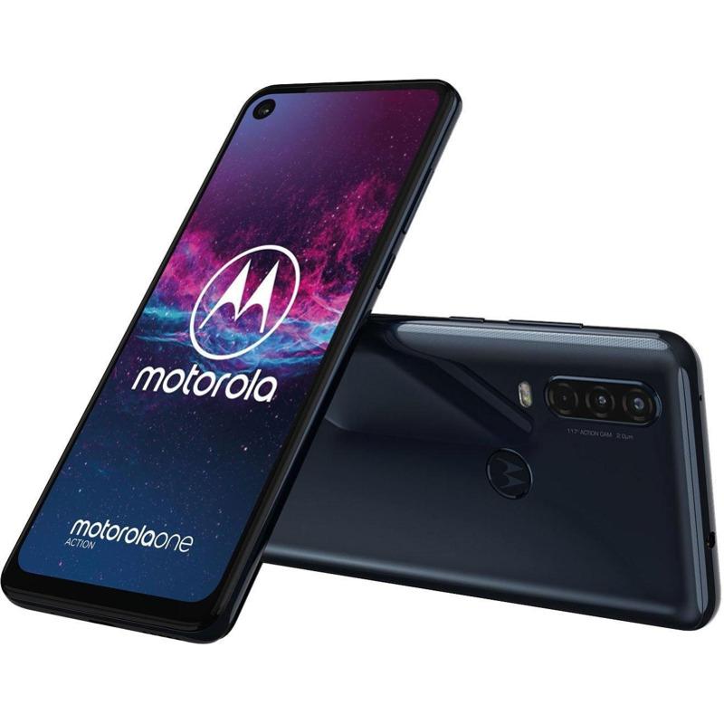 Motorola One Action Demin Blau