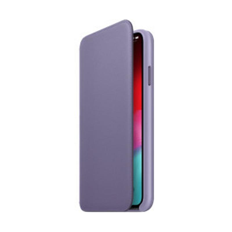 Apple Leder Folio (iPhone Xs Max) Flieder