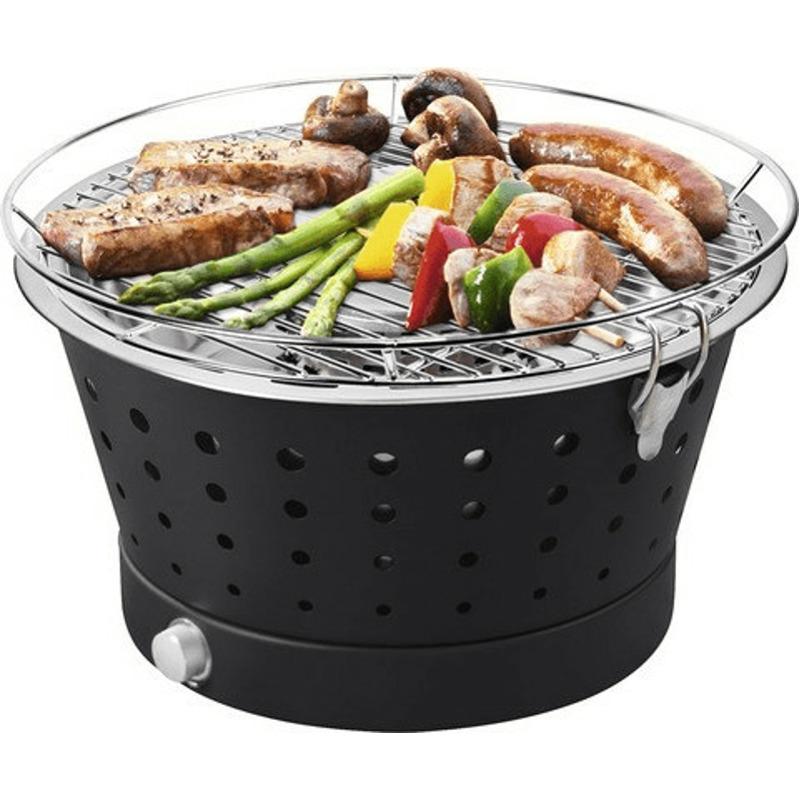 Fun BBQ Tischgrill rauchfrei Ø 35 cm schwarz