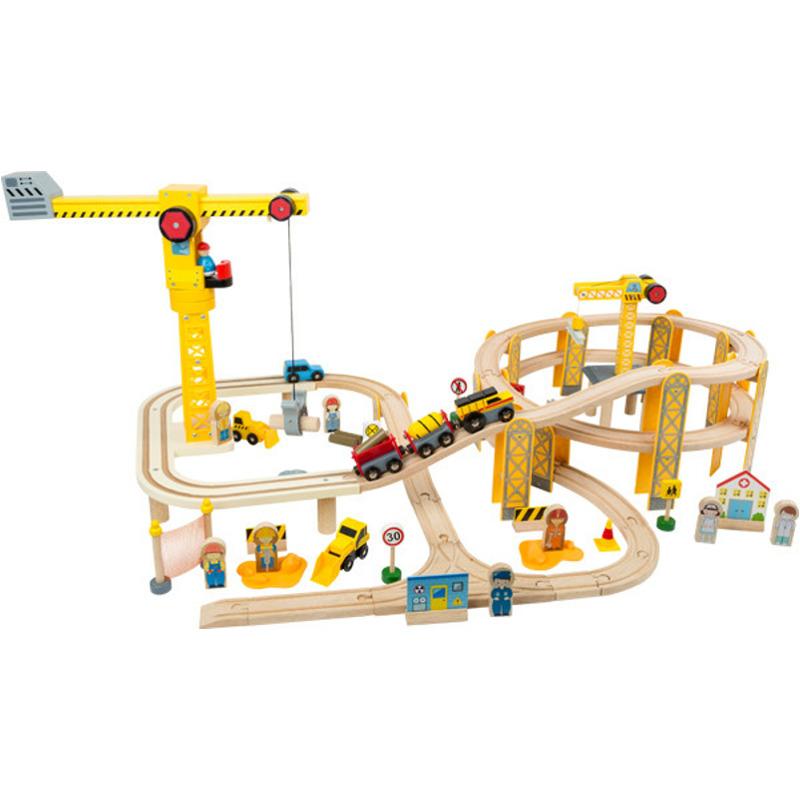 Legler Small Foot Eisenbahnset Baustelle