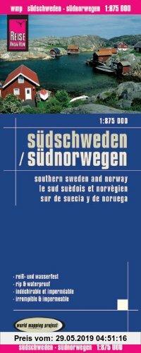 Gebr. - Reise Know-How Landkarte Südschweden, Südnorwegen (1:875.000): world mapping project: Kartenbild 2seitig. Exakte Höhenlinien. Höhenschichten-R