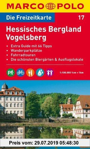 Gebr. - MARCO POLO Freizeitkarte Hessisches Bergland, Vogelsberg 1:100.000