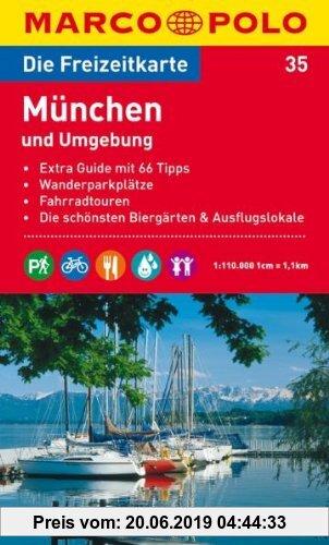 Gebr. - MARCO POLO Freizeitkarte München und Umgebung 1:110.000: Extra Guide mit 66 Tipps. Wanderparkplätze. Fahrradtouren. Die schönsten Biergärten u