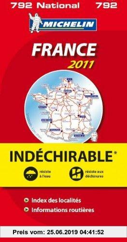 Gebr. - MICHELIN Nationalkarte Frankreich: widerstandsfähiges Papier