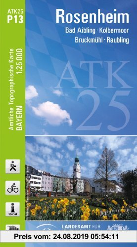 Gebr. - ATK25-P13 Rosenheim (Amtliche Topographische Karte 1:25000): Bad Aibling, Kolbermoor, Bruckmühl, Raubling