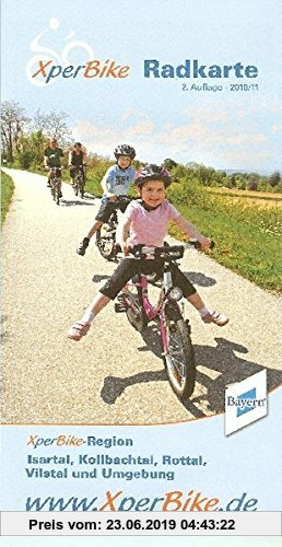 Gebr. - XperBike Radkarte Isartal, Kolbachtal, Rottal, Vilstal und Umgebung 1 : 75 000