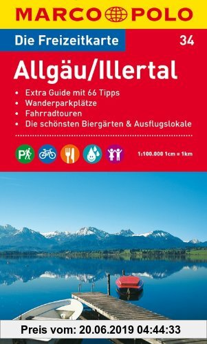 Gebr. - MARCO POLO Freizeitkarte Allgäu, Illertal 1:100:000