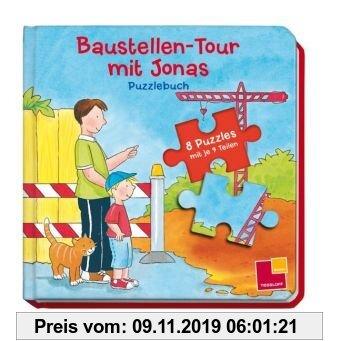 Gebr. - Baustellen-Tour mit Jonas. Puzzlebuch: 8 Puzzles mit je 9 Teilen