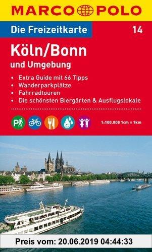 Gebr. - MARCO POLO Freizeitkarte Köln, Bonn und Umgebung 1:100.000