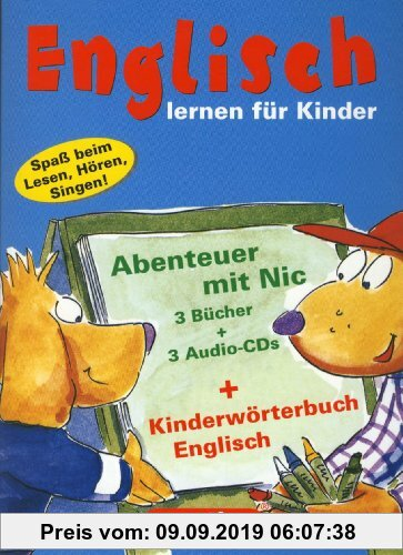 Gebr. - Berlitz Englisch lernen für Kinder: Abenteuer mit Nic. 3 Bücher und 3 Audio-CDs. Kinderwörterbuch Englisch. Spaß beim Lesen, Hören, Singen!
