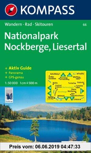 Gebr. - Nationalpark Region Nockberge, Liesertal: Wander- und Bikekarte. GPS-compatible. Mit Panorama. 1:50.000