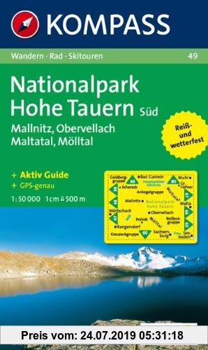 Gebr. - Nationalpark Hohe Tauern Süd, Mallnitz, Maltatal, Mölltal. Wandern / Rad / Skitouren. GPS-genau. 1:50.000