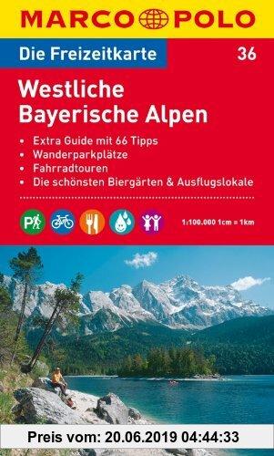 Gebr. - MARCO POLO Freizeitkarte Westliche Bayerische Alpen 1:100.000: Extra Guide mit 66 Tipps. Wanderparkplätze. Fahrradtouren. Die schönsten Biergä