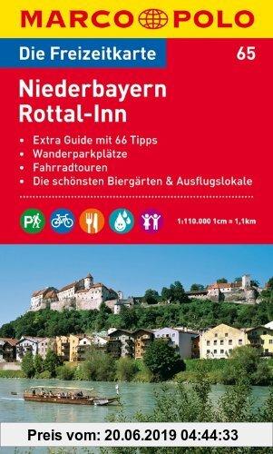 Gebr. - MARCO POLO Freizeitkarte Niederbayern, Rottal-Inn 1:120.000: Extra Guide mit 66 Tipps. Wanderparkplätze. Fahrradtouren. Die schönsten Biergärt