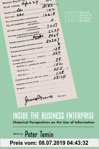Gebr. - Inside the Business Enterprise: Historical Perspectives on the Use of Information (National Bureau of Economic Research Conference Report (Pap