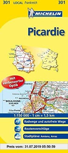 Gebr. - Michelin Picardie: Straßen- und Tourismuskarte