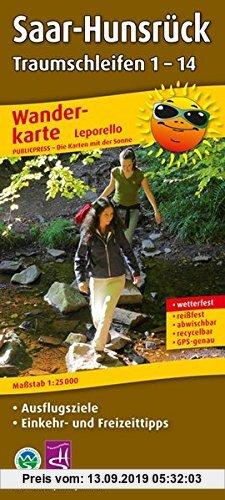 Gebr. - Wanderkarte Saar-Hunsrück Traumschleifen 1-14: Mit Ausflugszielen, Einkehr- & Freizeittipps, wetterfest, reißfest, abwischbar, GPS-genau. 1:25
