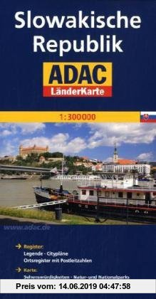 Gebr. - ADAC Länderkarte Slowakische Republik 1:300.000: Mit Cityplänen Bratislava und Kosice. Mit Reiseinformationen und Ortsregister