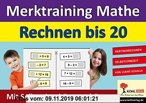Gebr. - Merktraining Mathe - Rechnen bis 20: Partnerrechnen mit Selbsteinschätzungsbögen