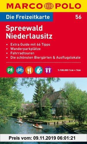 Gebr. - MARCO POLO Freizeitkarte Spreewald, Niederlausitz 1:100.000