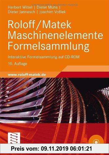 Gebr. - Roloff/Matek Maschinenelemente Formelsammlung: Interaktive Formelsammlung auf CD-ROM