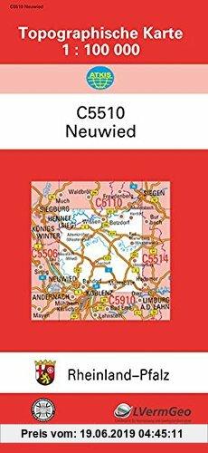 Gebr. - TK100 C5510 Neuwied: Topographische Karte 1:100 000 (Topographische Karten 1:100000 (TK 100) Rheinland-Pfalz (amtlich))