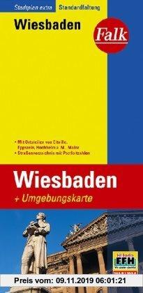 Gebr. - Falk Stadtplan Extra Standardfaltung Wiesbaden