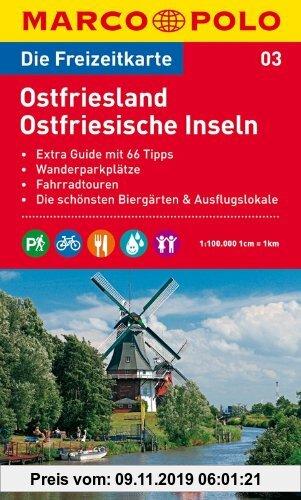 Gebr. - MARCO POLO Freizeitkarte Ostfriesland, Ostfriesische Inseln 1:100.000