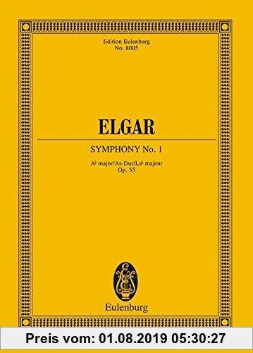 Gebr. - Symphonie Nr. 1 As-Dur: op. 55. Orchester. Studienpartitur. (Eulenburg Studienpartituren)