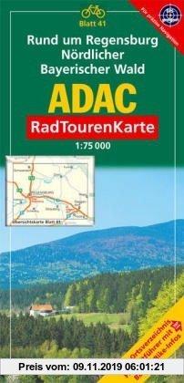 Gebr. - ADAC Radtourenkarte Rund um Regensburg, Nördlicher Bayerischer Wald: 1:75000: Mit Ortsverzeichnis, Freizeitführer mit Bahn & Bike-Infos