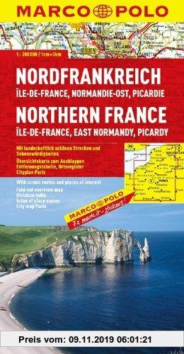 Gebr. - MARCO POLO Karte Nordfrankreich, Ile-de-France, Normandie-Ost, Picardie