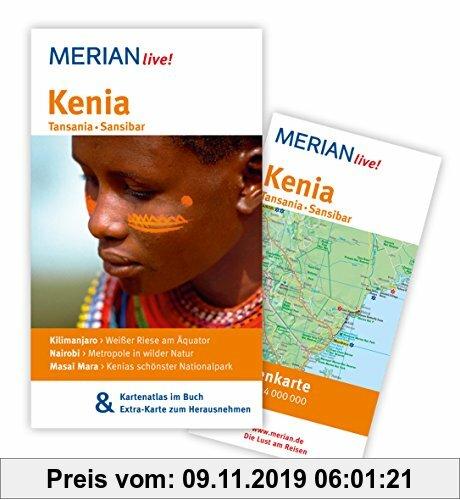 Gebr. - Kenia Tansania Sansibar: MERIAN live! - Mit Kartenatlas im Buch und Extra-Karte zum Herausnehmen