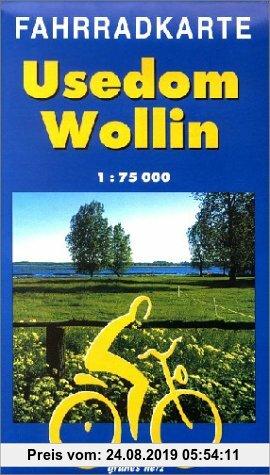 Gebr. - Fahrradkarte Usedom - Wollin: Mit Ostseeküsten-Radweg. 1:75.000
