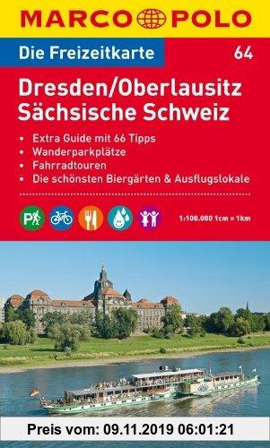 Gebr. - MARCO POLO Freizeitkarte Dresden, Oberlausitz, Sächsische Schweiz 1:100.000