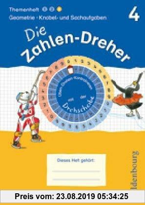 Gebr. - 4. Schuljahr - Geometrie / Knobel- und Sachaufgaben: Übungsheft mit Lösungsheft und Drehscheibe