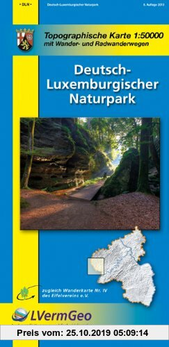 Gebr. - Naturparkkarten, Deutsch-Luxemburgischer Naturpark