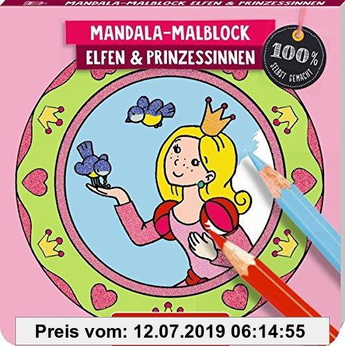 Gebr. - Mandala-Malblock Elfen und Prinzessinnen (100% selbst gemacht)