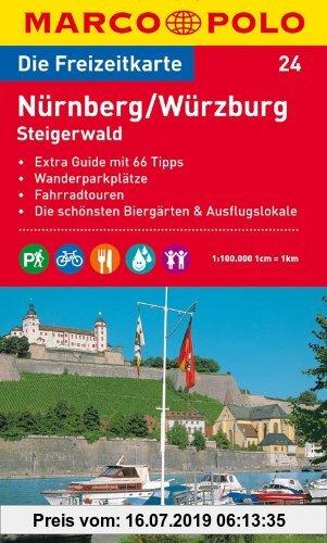Gebr. - MARCO POLO Freizeitkarte Nürnberg, Würzburg, Steigerwald 1:100.000