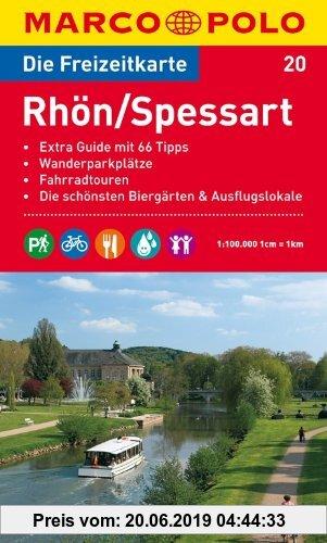 Gebr. - MARCO POLO Freizeitkarte Rhön, Spessart 1:100.000