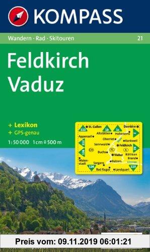 Gebr. - Feldkirch, Vaduz: Wandern / Rad / Skitouren. 1:50.000