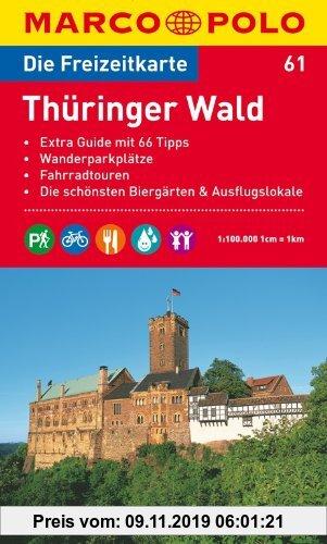 Gebr. - MARCO POLO Freizeitkarte Thüringer Wald 1:100.000: Extra Guide mit 66 Tipps, Wanderparkpläötze, Fahrradtouren, Die schönsten Biergärten & Ausf